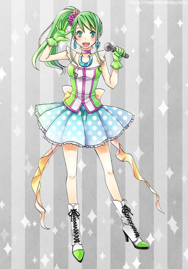 キャラクターデザイン:馬のおねえさんアイドルバージョン(商用)