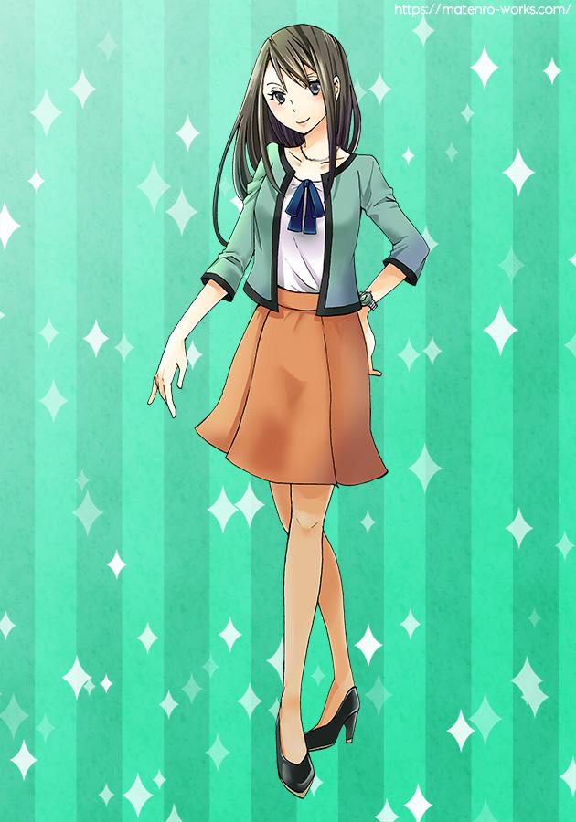 キャラクターデザイン:馬のおねえさん(商用)
